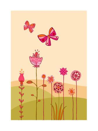 Butterflies with Flowers