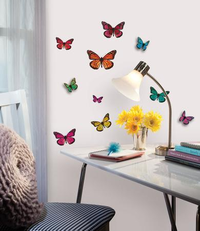 Charmant Butterfly 3 D Wall Decals