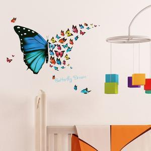 Butterfly Dream home decor, nursery decor, wall, self-adhesive