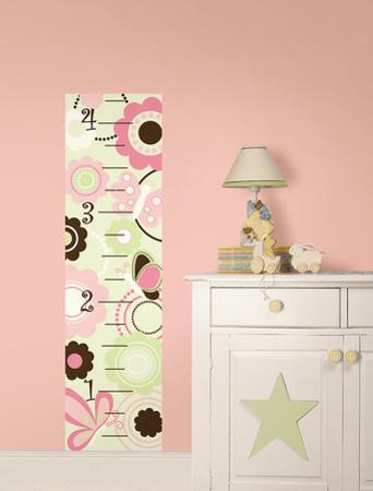 Butterfly Garden Growth Chart Wall Decal Sticker