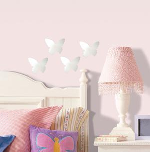 Butterfly Peel & Stick Mirror (Small - 4 pieces)