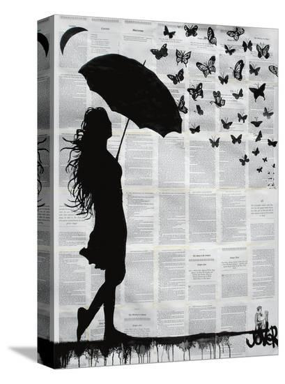 Butterfly Rain-Loui Jover-Stretched Canvas