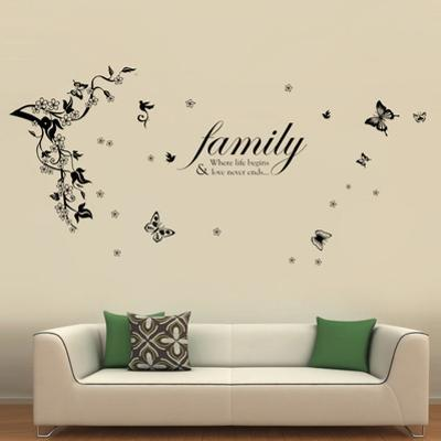 Butterfly Vine with Family Quote