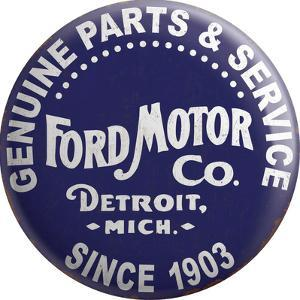 Button Ford Motor Co Tin Button Sign