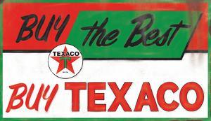 Buy Texaco Domed Tin Sign
