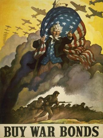 Buy War Bonds, World War 2 Poster of Uncle Sam