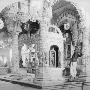 Interior of the Temple of Babulnath, Bombay, India, 1901 by BW Kilburn