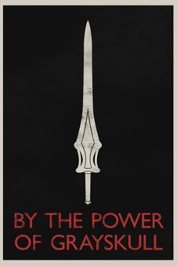 By The Power of Grayskull Retro Plastic Sign