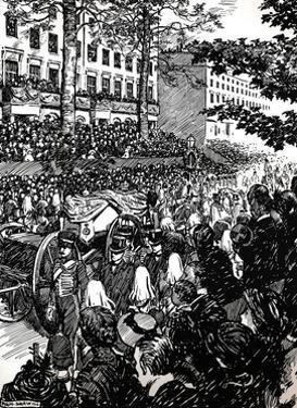 King Edward VII's last journey through London: the funeral cortege in Piccadilly, 1910 (1911) by Byam Shaw