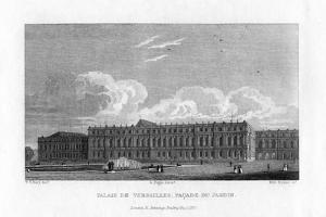Palace of Versailles, Near Paris, 1829 by Byrne