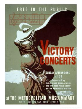 Victory Concerts at the Metropolitan Museum of Art by Byron Browne