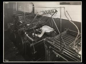 A Printing Press at Unz and Co., 24 Beaver Street, New York, 1932 by Byron Company