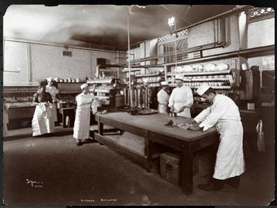 Cooks Working in the Kitchen at Maillard's Chocolate Manufacturers, 116-118 West 25th Street, New…