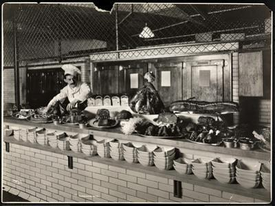 Display of Cold Meat in the Kitchen of the Commodore Hotel, 1919