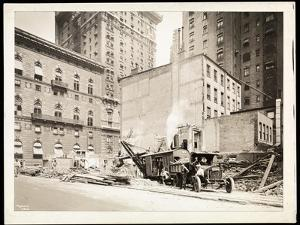 Excavations at the Building Site for the Aeolian Company Building at 5th Avenue and 54th Street,… by Byron Company