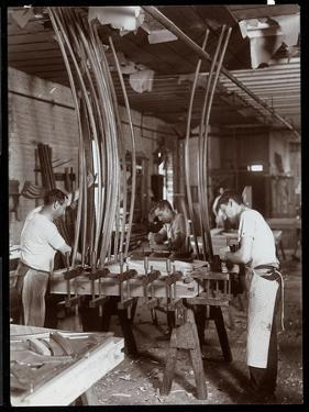 Men Working in a Piano Factory, 1907 by Byron Company