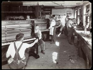 Men Working in the Hardman, Peck and Co. Piano Factory, New York, 1907 by Byron Company