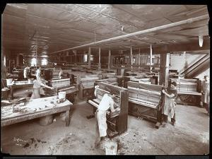 Men Working in the Harrington Piano Co. Factory, 1907 by Byron Company