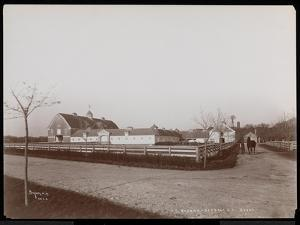 The Barns at F.G. Bourne's Estate at Oakdale, Long Island, New York, 1900 by Byron Company