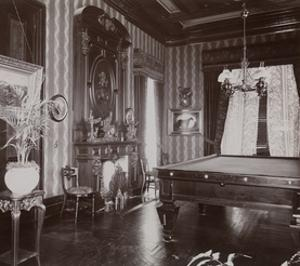 The Billiard Room at the John Jacob Astor Residence at Rhinecliff, N.Y., 1893-94 by Byron Company