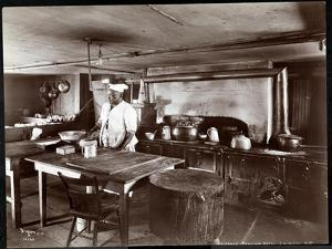 The Kitchen at Janer's Pavilion Hotel, Red Bank, New Jersey, 1903 by Byron Company