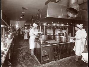 The Kitchen at the Ritz-Carlton Hotel, c.1910-11 by Byron Company