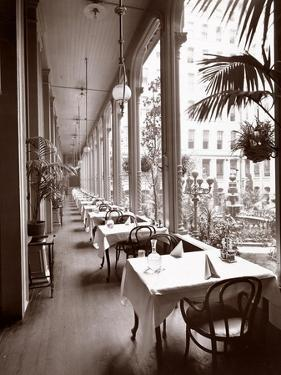 The Veranda at the Park Avenue Hotel, 1901 or 1902 by Byron Company