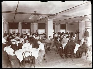 View of Men and Women Dining in a Cafeteria at Parke, Davis and Co., Chemists, Hudson and Vestry… by Byron Company