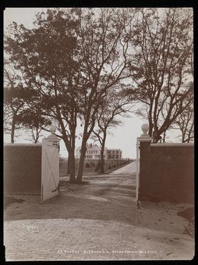 View of the Main House from the Stable Gates, on F.G. Bourne's Estate at Oa by Byron Company