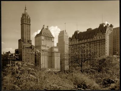 View of the Savoy Plaza Hotel, 59th Street and Fifth Avenue, New York, c.1937 by Byron Company
