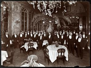 Waiters in the Palm Court at Sherry's Restaurant, New York, 1902 by Byron Company