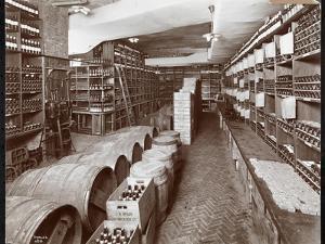 Wine Cellar at the Hotel Knickerbocker, 1906 by Byron Company