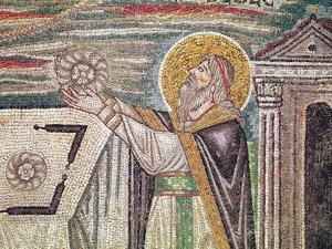 Melchisedech Offers Bread at the Altar, Detail of the Lunette by Byzantine