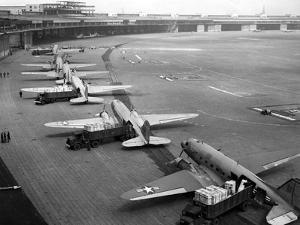 C-47S Unloading at Tempelhof Airport During the Berlin Airlift, June-August 1948