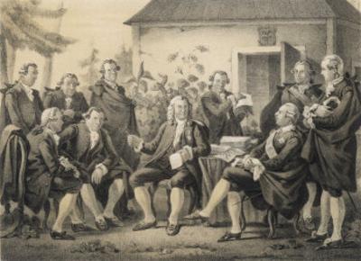 Carl Von Linne Ka Linnaeus Swedish Naturalist Visited by Gustav III 1790 by C.a. Dahlstrom