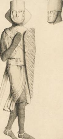 Effigy of Geoffrey de Magnaville Earl of Essex and Templar Knight