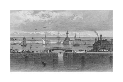 'Ramsgate Harbour and Light House, Kent', c1829