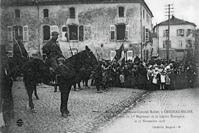Lieutenant-Colonel Rollet Entering Chateau-Salins, Moselle, France, 17 November 1918