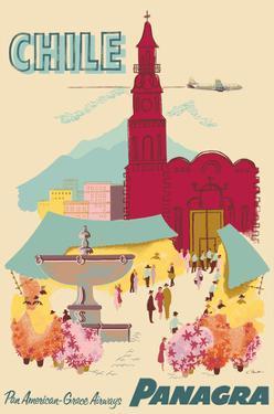 Chile - Plaza de Armas - Santiago - PANAGRA (Pan American Grace Airways) by C. Bush