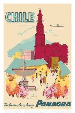 Chile - Plaza de Armas - Santiago - PANAGRA (Pan American Grace Airways) by C^ Bush