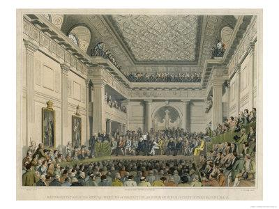 Meeting of the British and Foreign Bible Society in Freemasons Hall