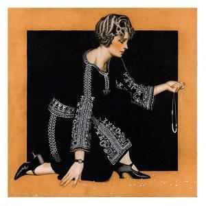 """Broken Pearl Necklace,""November 17, 1923 by C^ Coles Phillips"