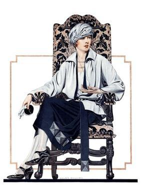 """""""Seated Woman,""""February 17, 1923 by C. Coles Phillips"""