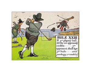 Rules of Golf, Rule XXIII by C^ Crombie