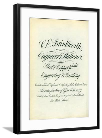 C. E. Brinkworth--Framed Giclee Print