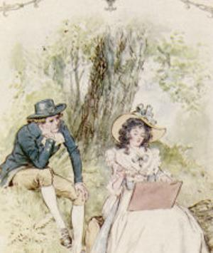 Elinor and Robert Sit Under a Tree by C.e. Brock
