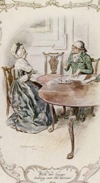 Mrs. Ferrars Instructs Her Lawyer by C.e. Brock