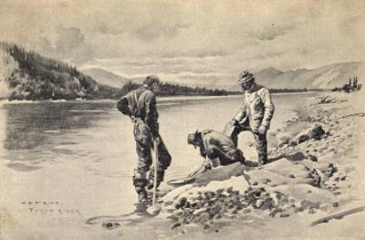 Panning Gold on the Yukon River Klondike Canada