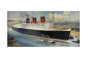 Queen Mary' Ocean Liner to Greenock, Inverclyde by C.e. Turner
