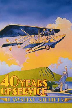 Hawaiian Airlines, 40 Years of Service by C.e. White